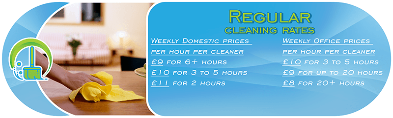 regular domestic and office cleaning